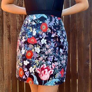 MINKPINK Botanica Floral Satin Mini Skirt
